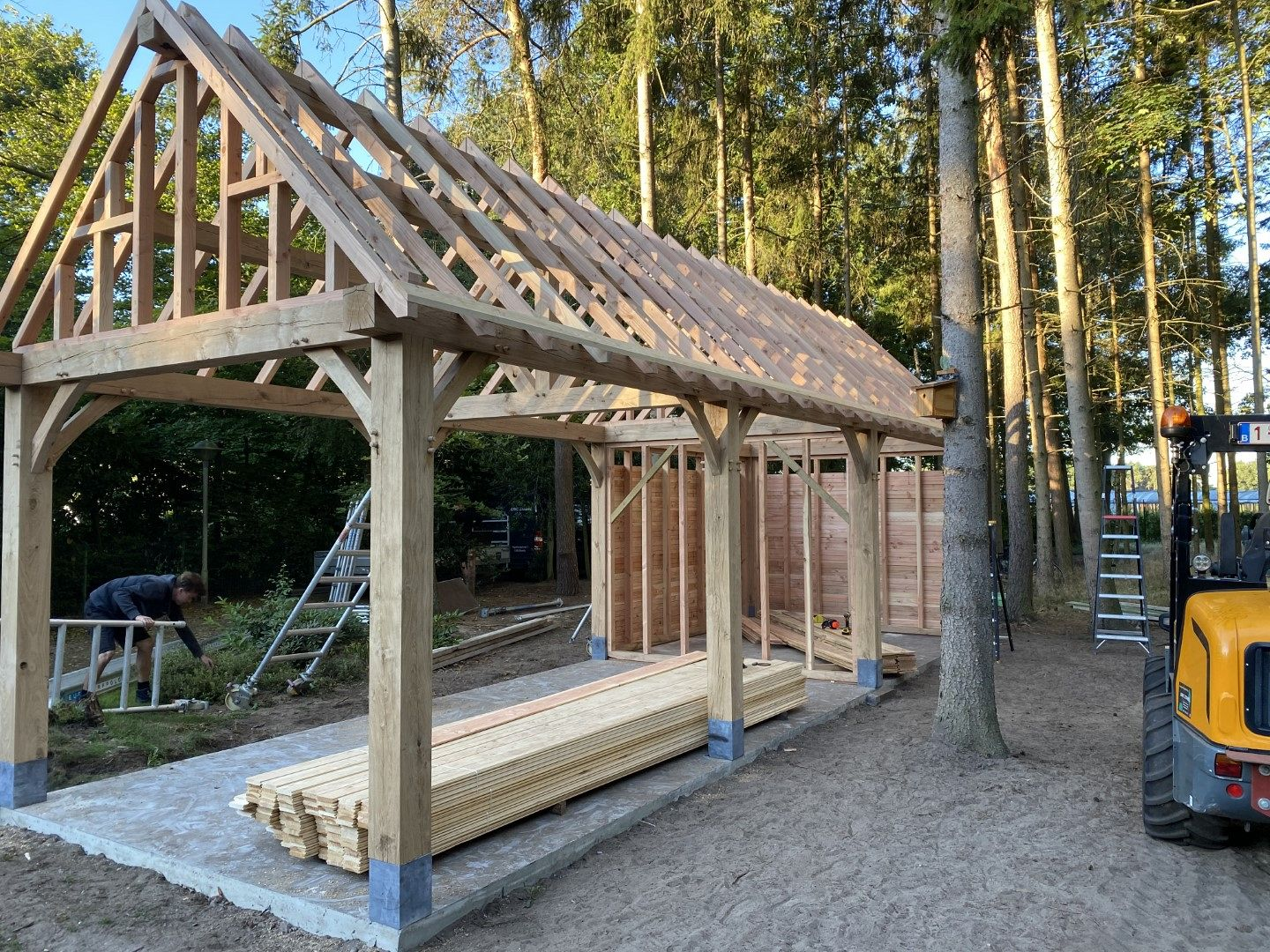 Carport in Eik te Poppel